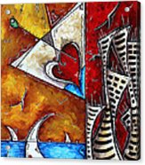 Coastal Martini Cityscape Contemporary Art Original Painting Heart Of A Martini By Madart Acrylic Print