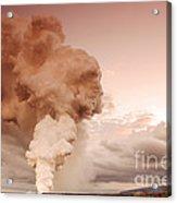 Coastal Steam Plume At Kilauea Volcano Acrylic Print by Stephen & Donna O'Meara