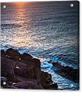 Coastal Sunrise Acrylic Print by David Pinsent