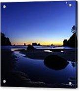 Coastal Sunset Skies Reflection Acrylic Print