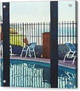 Coastal Swimming Pool Acrylic Print