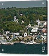 Coastal Village Acrylic Print