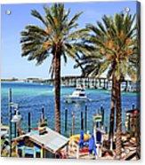 Coastal Waters Around Destin Florida Acrylic Print