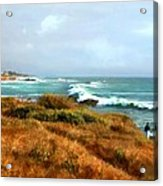 Coastal Waves Roll In To Shore Acrylic Print