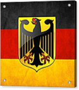 Coat Of Arms And Flag Of Germany Acrylic Print