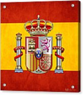 Coat Of Arms And Flag Of Spain Acrylic Print