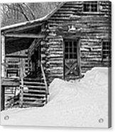 Slayton Pasture Cobber Cabin Trapp Family Lodge Stowe Vermont Acrylic Print