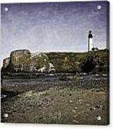 Cobble Beach At Yaquina Lighthouse Acrylic Print