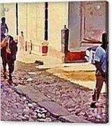 Cobble Stone Streets Of Cuba Acrylic Print