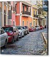 Cobblestone Streets Of San Juan Puerto Rico Acrylic Print