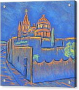 Cobblestones To The Basilica Acrylic Print by Marcia Meade