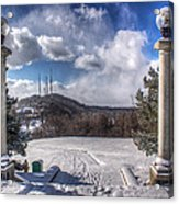 Cobbs Hill Park In Winter Acrylic Print