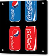 Coca Cola And Pepsi Acrylic Print