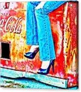 Coca-cola And Stiletto Heels Acrylic Print