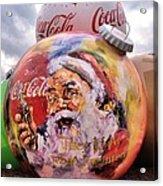 Coca Cola Christmas Bulbs Acrylic Print
