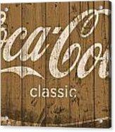 Coca Cola Classic Barn Acrylic Print