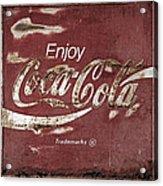 Coca Cola Faded Sign Acrylic Print