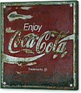Coca Cola Green Grunge Sign Acrylic Print