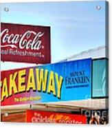 Coca-cola - Old Shop Signage Acrylic Print by Kaye Menner
