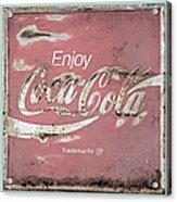 Coca Cola Pastel Grunge Sign Acrylic Print
