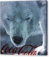 Coca Cola Polar Bear Acrylic Print