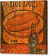 Coca Cola Rusty Sign Acrylic Print