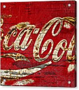 Coca Cola Sign Cracked Paint Acrylic Print