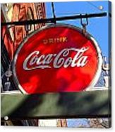 Coca Cola Sign In Georgia Acrylic Print