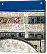 Coca Cola Sign On Old Factory Acrylic Print