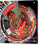 Coca Cola Signs In The Round Posterized Acrylic Print