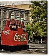 Coca-cola Acrylic Print by Wayne Gill