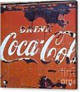 Cocacola Ice Box Acrylic Print
