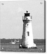 Cockspur Lighthouse - Bw Acrylic Print