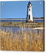 Cockspur Lighthouse In The Sanannah River Acrylic Print