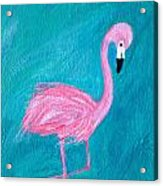 Cocky Flamingo Joe Acrylic Print