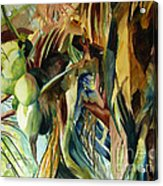 Coconuts And Palm Fronds 5-16-11 Julianne Felton Acrylic Print