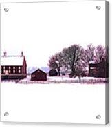 Codori Farm At Gettysburg In Winter Acrylic Print
