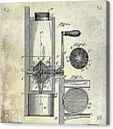 Coffee Mill Patent 1893 Acrylic Print