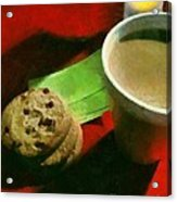 Coffee And Cookies At The Cafe Acrylic Print