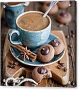 Coffee And Cookies Acrylic Print