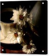 Coffee And Daisies  Acrylic Print