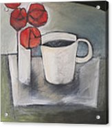 Coffee And Roses Acrylic Print