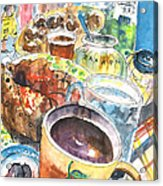 Coffee Break In Grakari In Crete Acrylic Print