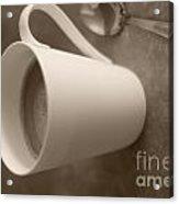 Coffee Cup Acrylic Print by Bobby Mandal