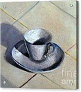 Coffee Cup Acrylic Print by Kostas Koutsoukanidis