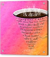 Coffee Cup The Jetsons Sorbet Acrylic Print