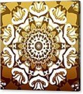 Coffee Flowers 10 Calypso Ornate Medallion Acrylic Print