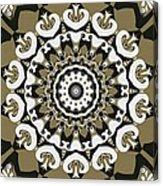 Coffee Flowers 10 Olive Ornate Medallion Acrylic Print