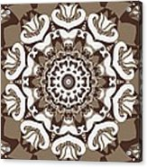 Coffee Flowers 10 Ornate Medallion Acrylic Print by Angelina Vick