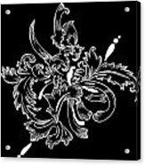 Coffee Flowers 11 Bw Acrylic Print